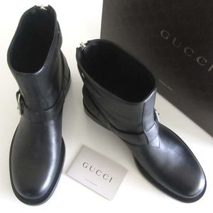a86c0641aa6 Gucci Shoes - new GUCCI buckled straps biker ankle boots 40   10